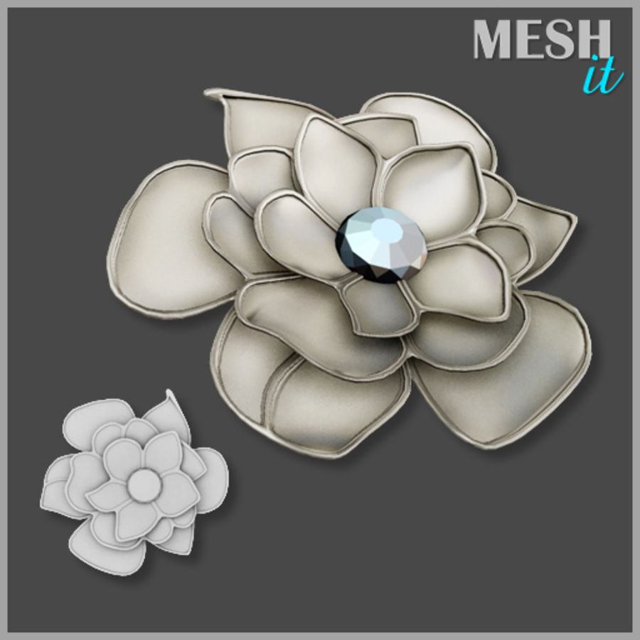 Flower Decoration royalty-free 3d model - Preview no. 1