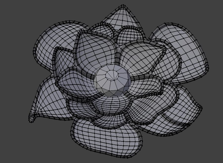 Flower Decoration royalty-free 3d model - Preview no. 3