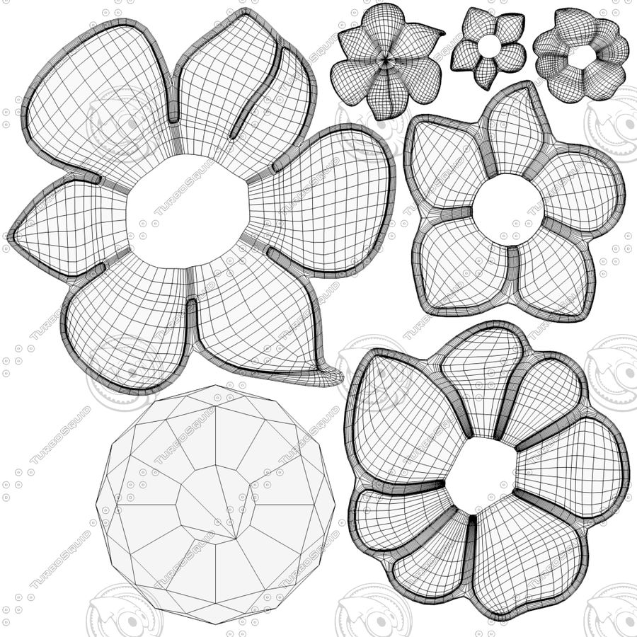 Flower Decoration royalty-free 3d model - Preview no. 5