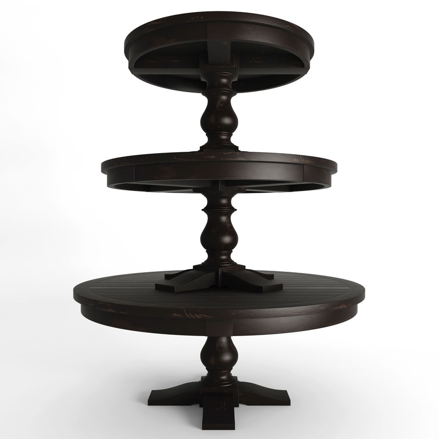 17th C Monastery Round Dining Table Black 3d Model 14 Fbx Max Free3d