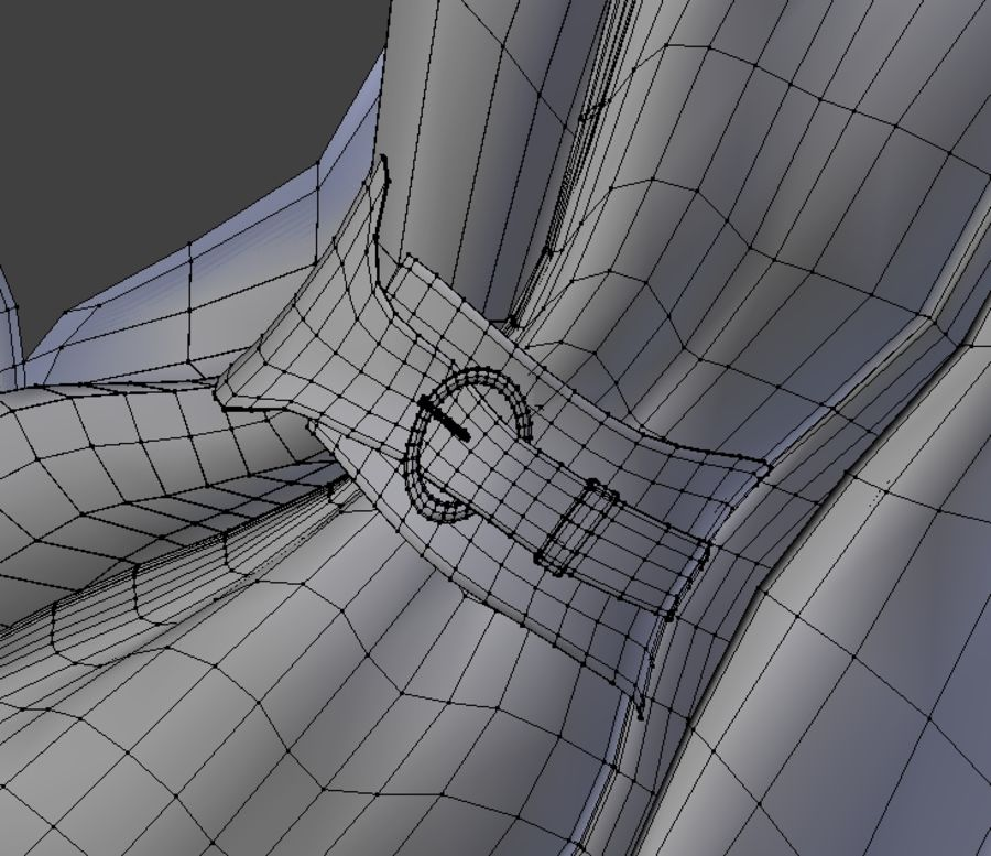 Scarf royalty-free 3d model - Preview no. 5
