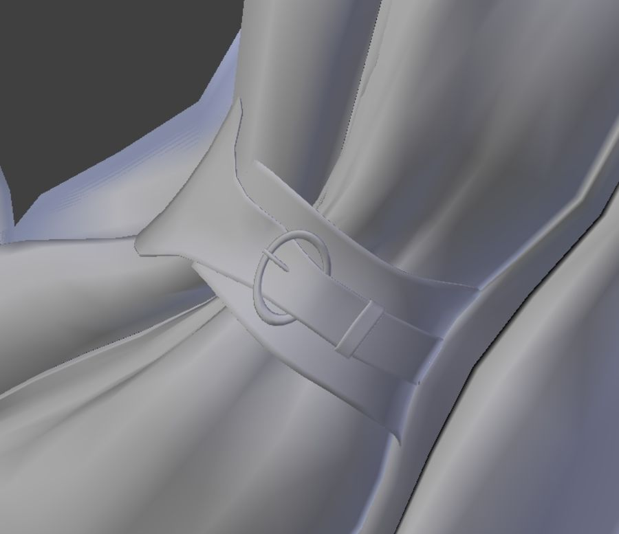 Scarf royalty-free 3d model - Preview no. 4