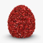 ヘッジ02(赤) 3d model