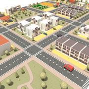 Layout della città 3d model