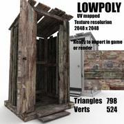 木製ヴィレッジトイレ 3d model