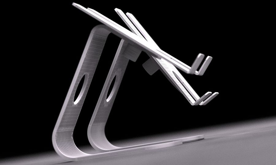 SMART PHONE ALUMINIUM STAND 2015 RAW royalty-free 3d model - Preview no. 4