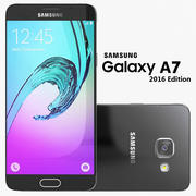 Samsung Galaxy A7 2016 Svart 3d model