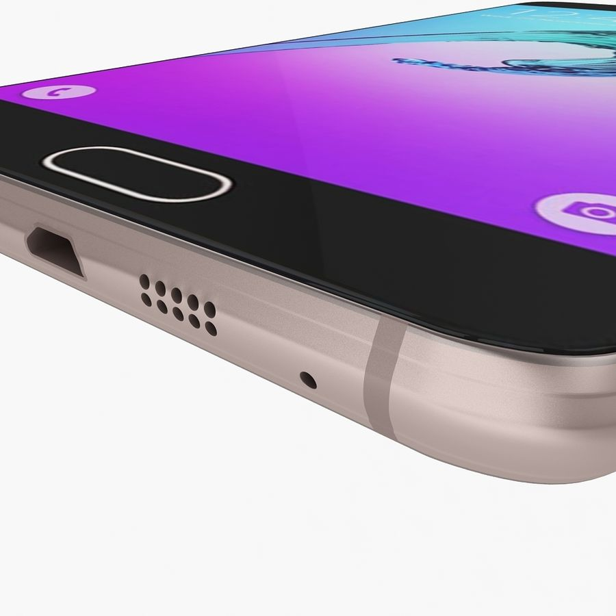 Samsung Galaxy A7 2016 Pink royalty-free 3d model - Preview no. 11