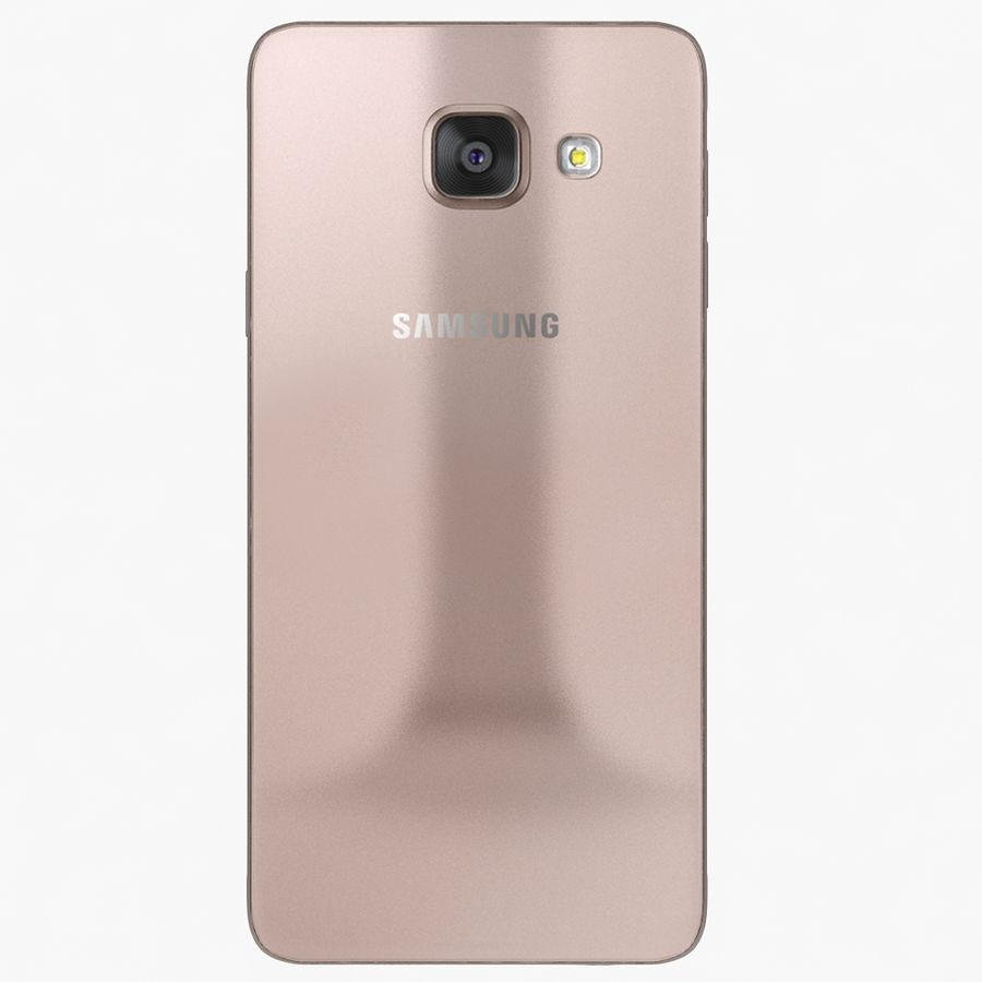 Samsung Galaxy A7 2016 Pink royalty-free 3d model - Preview no. 3