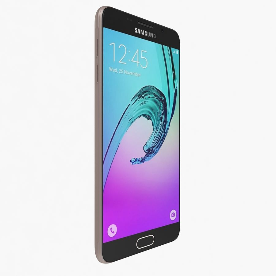 Samsung Galaxy A7 2016 Pink royalty-free 3d model - Preview no. 5