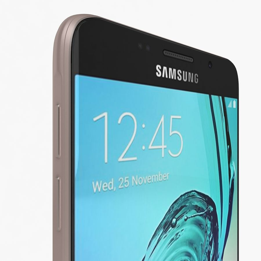 Samsung Galaxy A7 2016 Pink royalty-free 3d model - Preview no. 8
