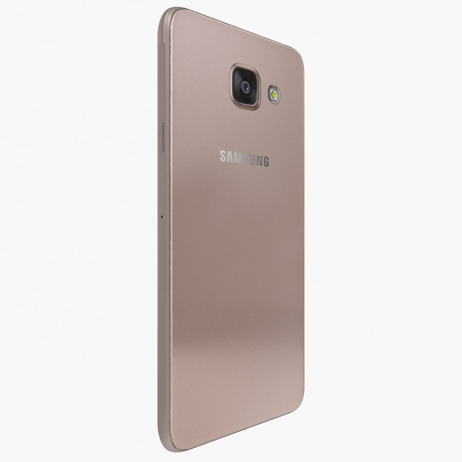Samsung Galaxy A7 2016 Pink royalty-free 3d model - Preview no. 4