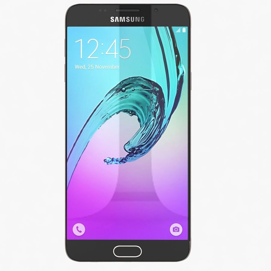 Samsung Galaxy A7 2016 Pink royalty-free 3d model - Preview no. 2