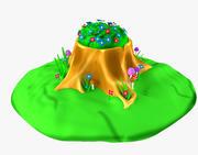 CartoonTree Stump 3d model