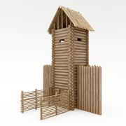 Torre de madera modelo 3d