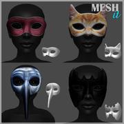 Mascaras modelo 3d
