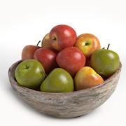 talerz jabłek 3d model
