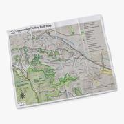 Mapa szlaku 3d model