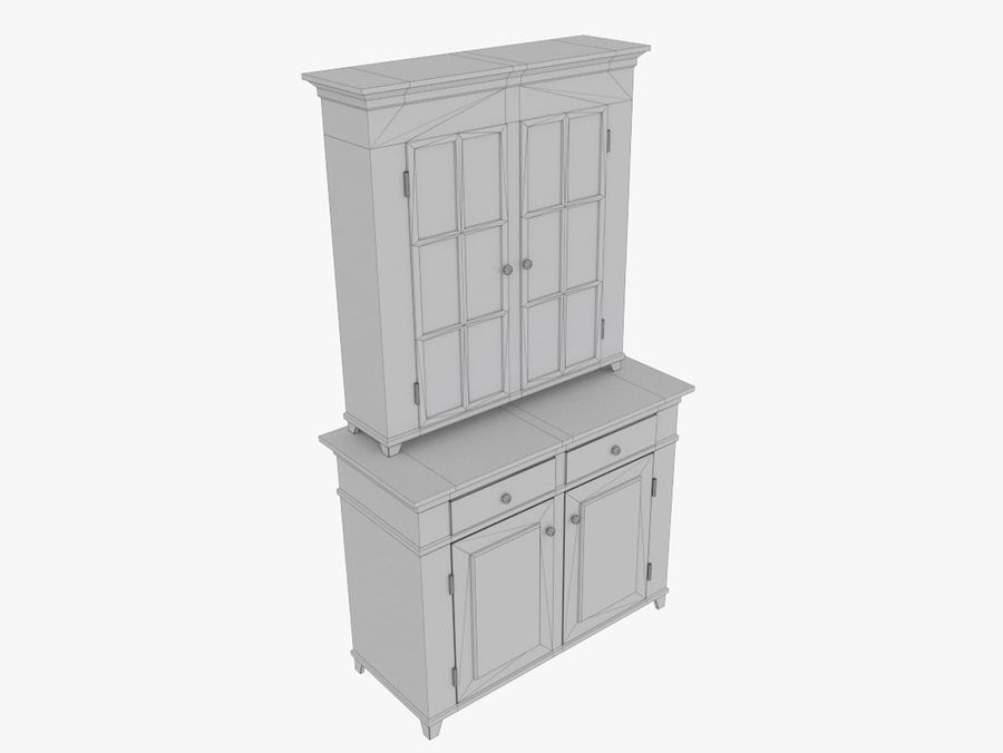 cupboard royalty-free 3d model - Preview no. 7