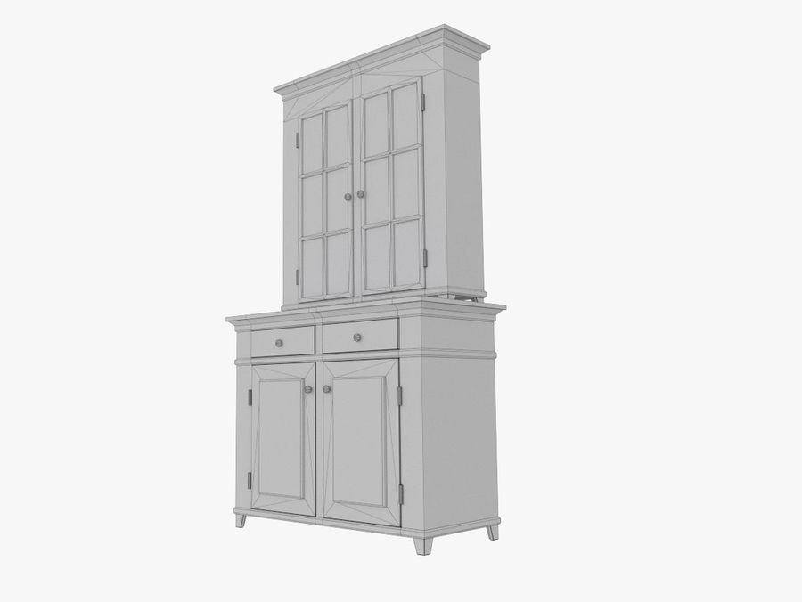 cupboard royalty-free 3d model - Preview no. 8