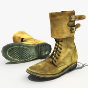 WW2 USA combat boots 3d model