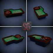 Table de roulette 3d model