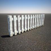 Деревянный забор 3d model