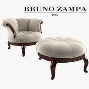 Bruno Zampa Fascino Fiore e pouf 3d model
