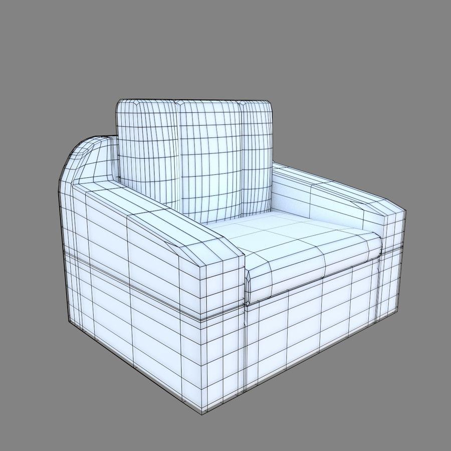 Juego de muebles royalty-free modelo 3d - Preview no. 8