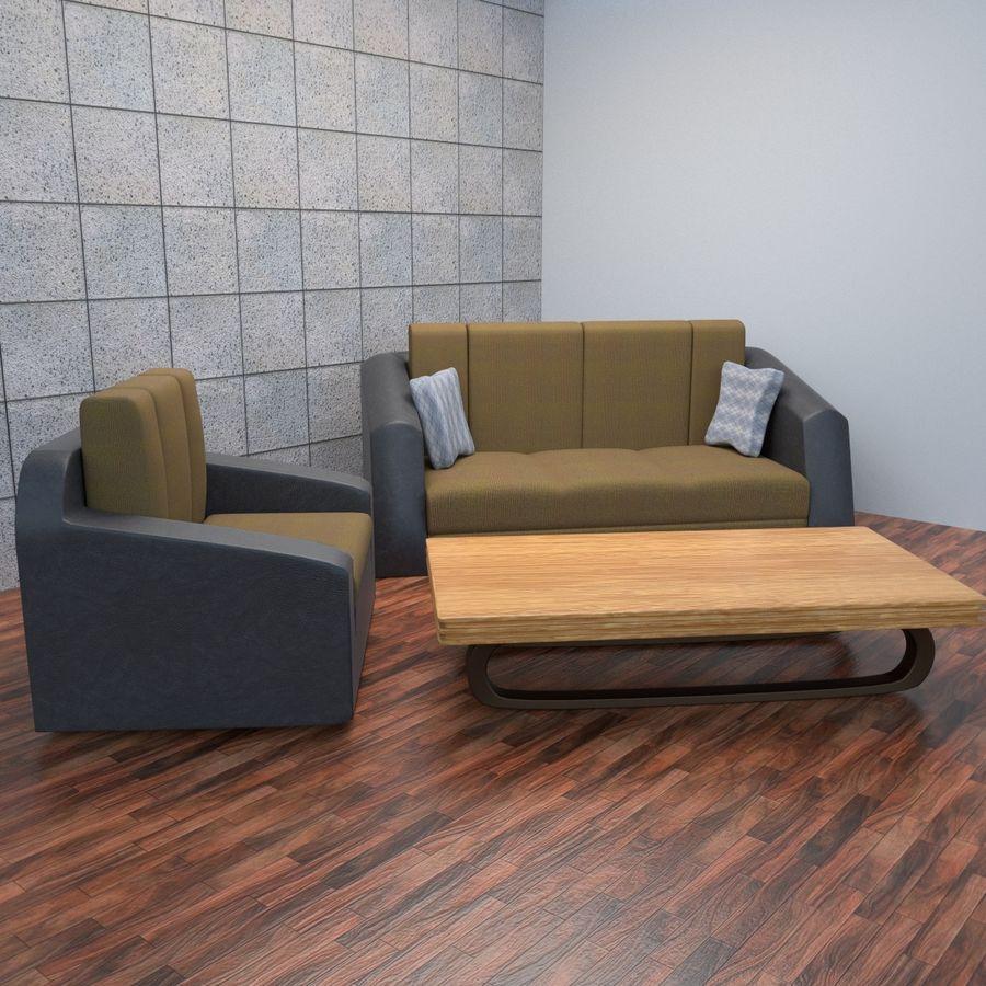 Juego de muebles royalty-free modelo 3d - Preview no. 2