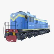 Locomotiva diesel TEM-2 3d model