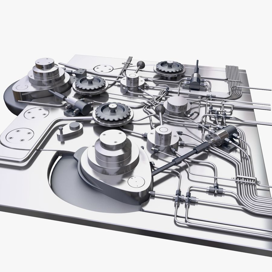产业机制 royalty-free 3d model - Preview no. 4