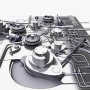 产业机制 3d model