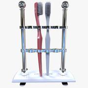 Suporte de escova de dentes + escova de dentes 3d model