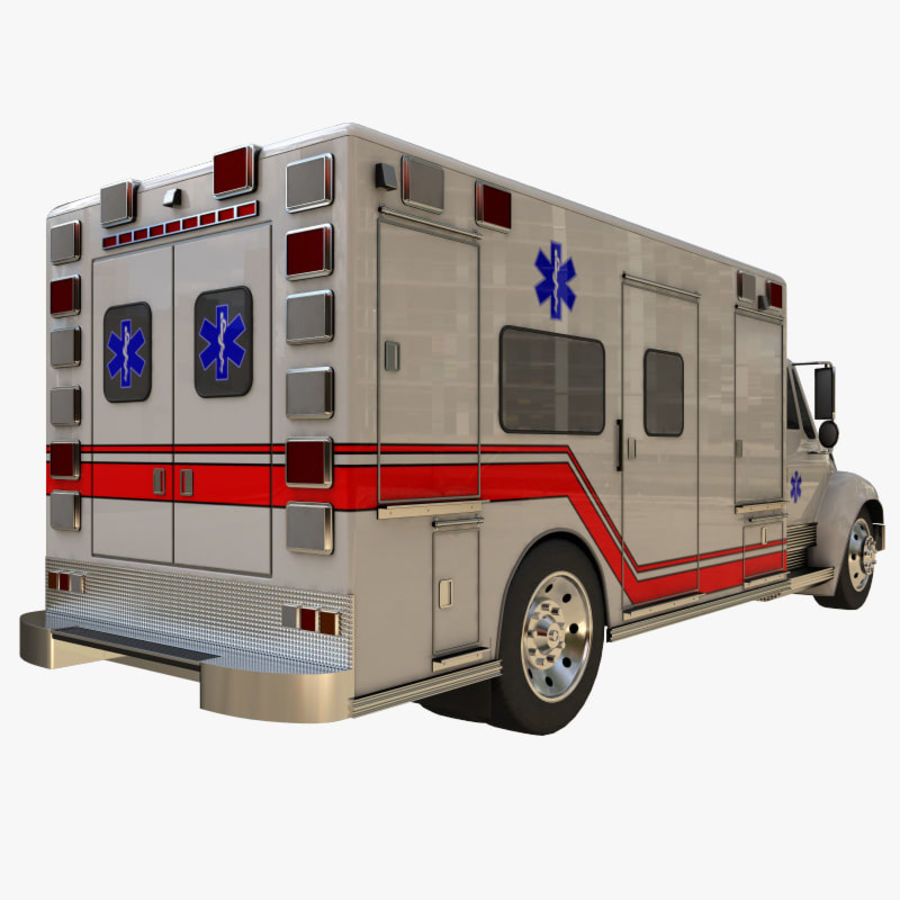 ambulans royalty-free 3d model - Preview no. 4