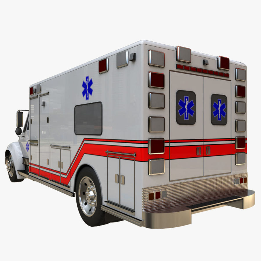 ambulans royalty-free 3d model - Preview no. 3