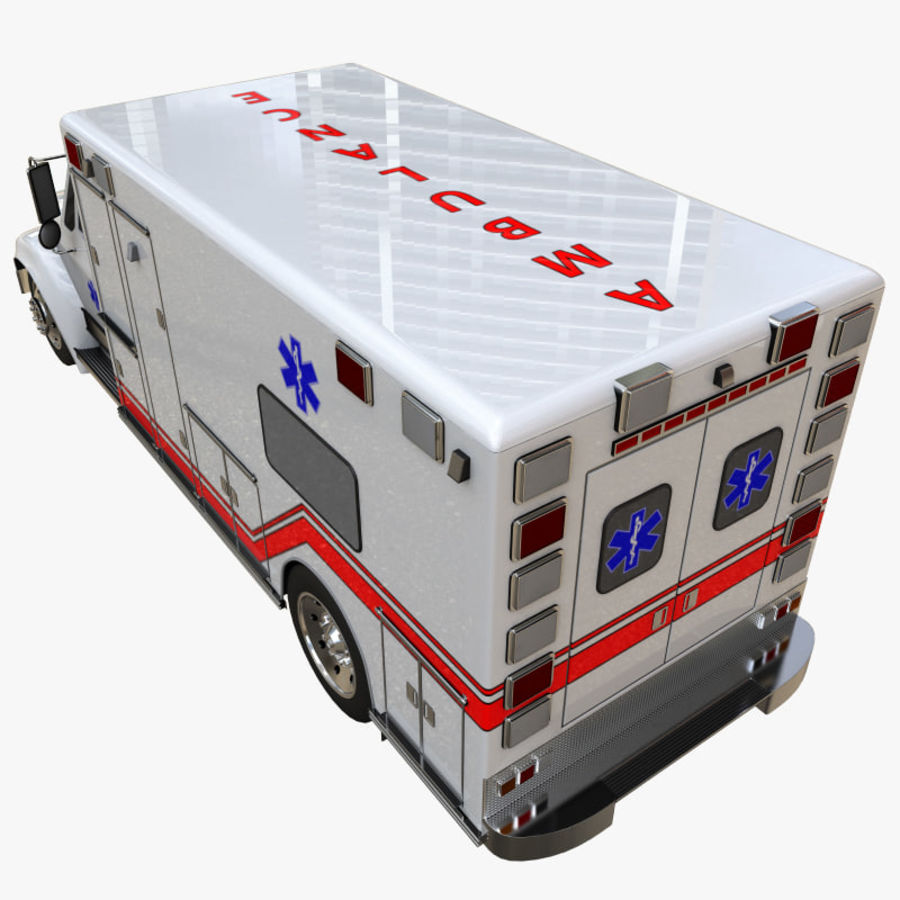 救急車 royalty-free 3d model - Preview no. 8