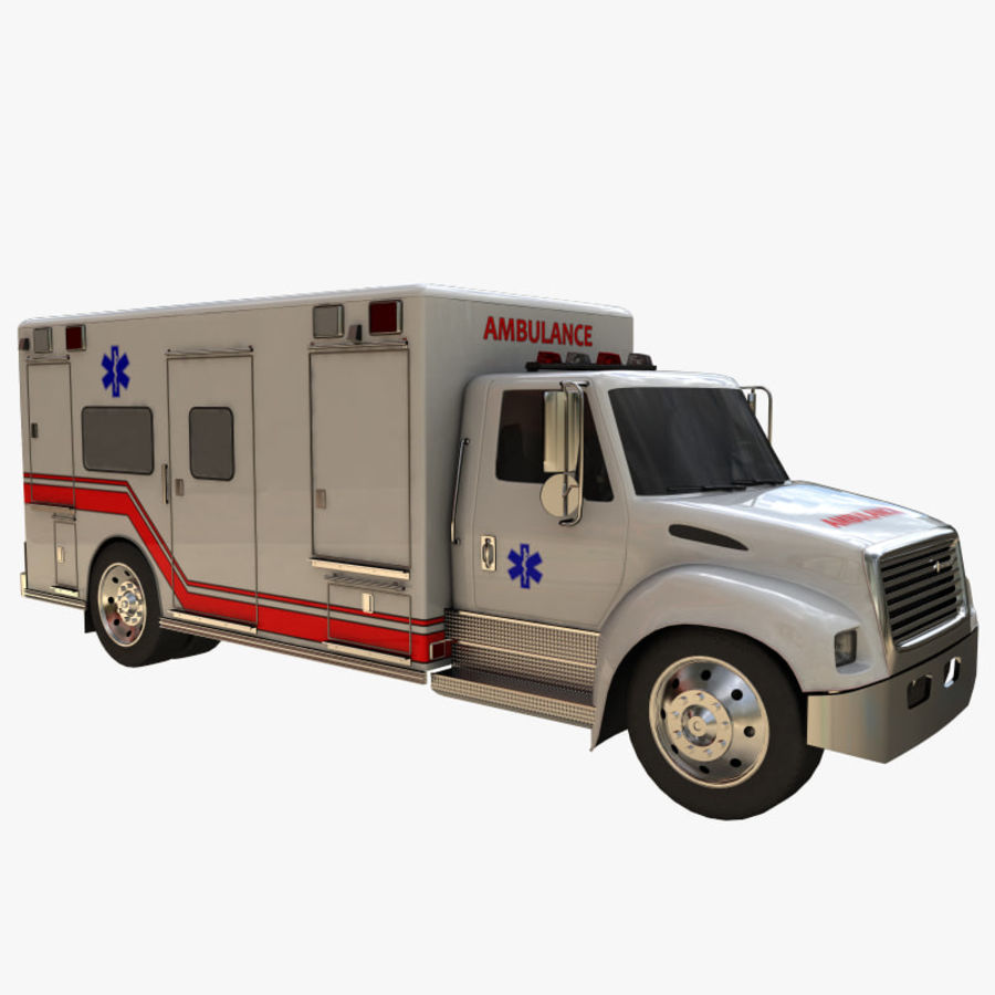 ambulans royalty-free 3d model - Preview no. 5