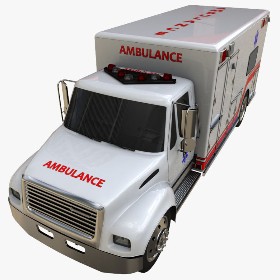 ambulans royalty-free 3d model - Preview no. 7