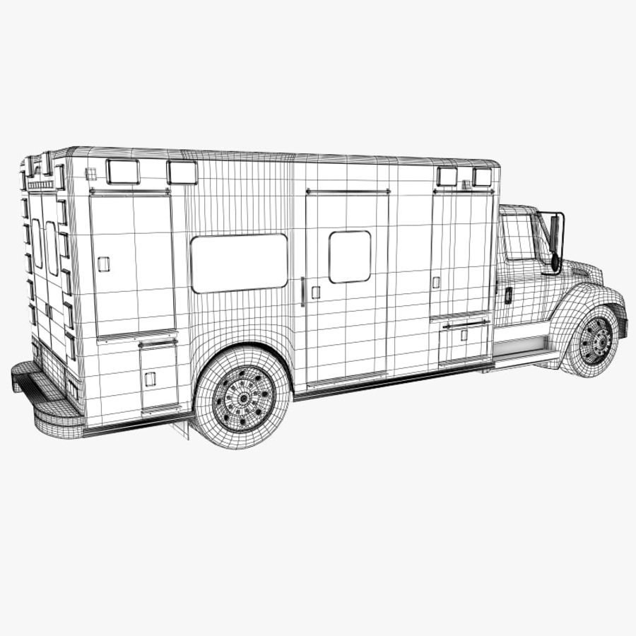 救急車 royalty-free 3d model - Preview no. 11