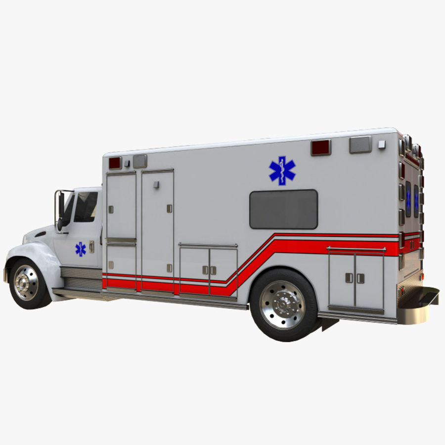 ambulans royalty-free 3d model - Preview no. 2
