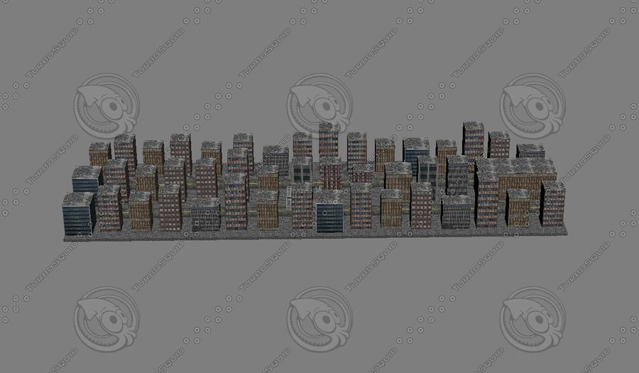Kleine Stadt royalty-free 3d model - Preview no. 2