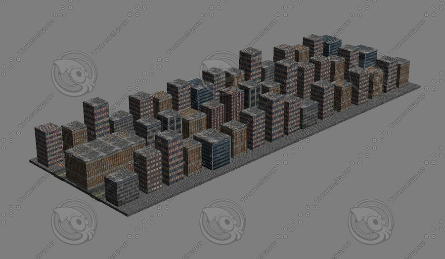 Kleine Stadt royalty-free 3d model - Preview no. 1