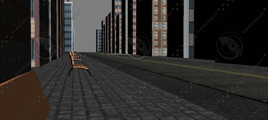 Kleine Stadt royalty-free 3d model - Preview no. 3