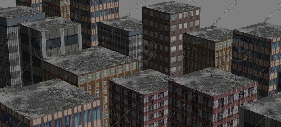 Kleine Stadt royalty-free 3d model - Preview no. 5