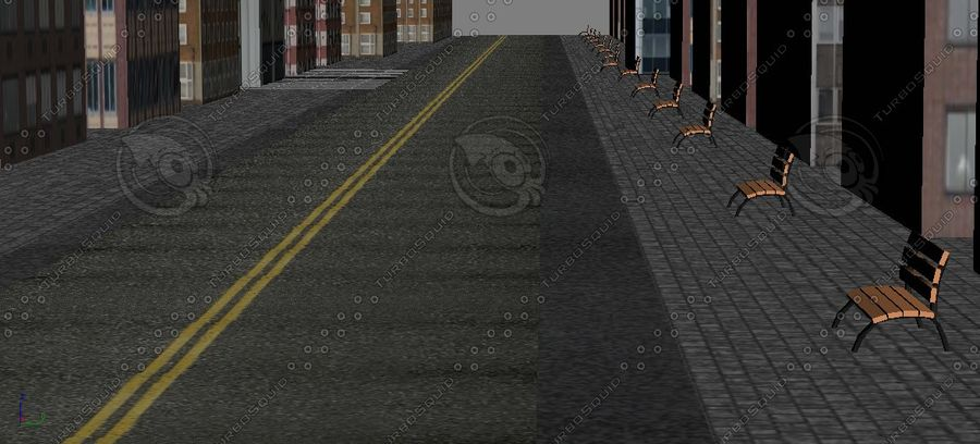 Kleine Stadt royalty-free 3d model - Preview no. 4