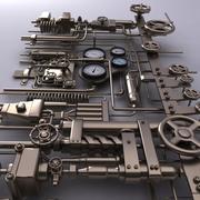 Instalação antiga 3d model