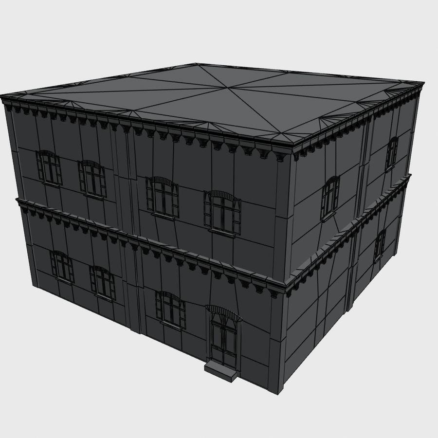 公寓楼02 royalty-free 3d model - Preview no. 9