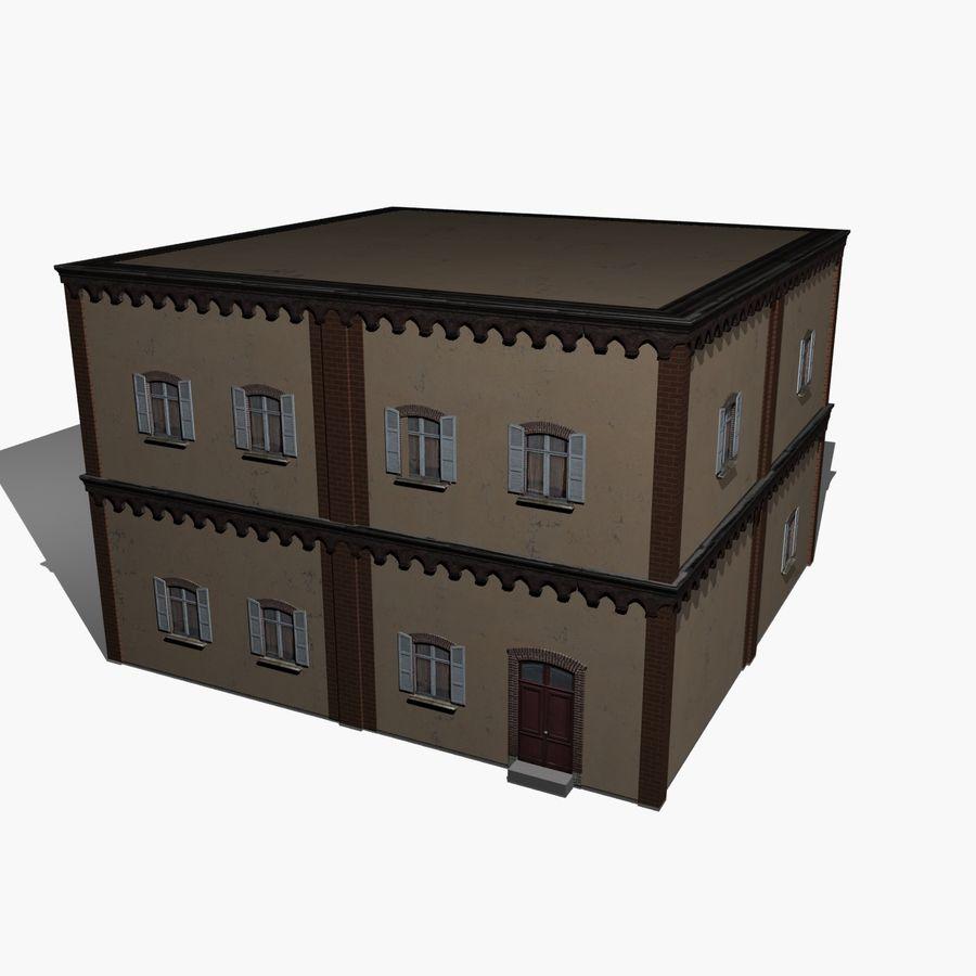 公寓楼02 royalty-free 3d model - Preview no. 1