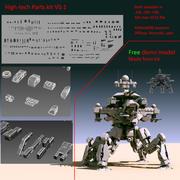 Комплект высокотехнологичных деталей 3d model